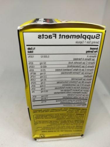 SHOT GINSENG Multivitamin Supplement Ginseng B Complex 50 Caps 3/20