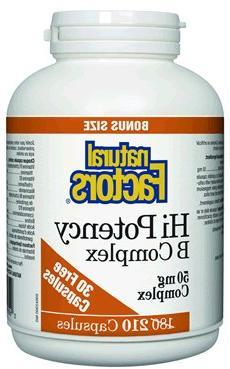 Hi Potency B Complex  ----Bonus Size---- Brand: Natural Fact