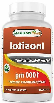 Inositol 1000mg 120 Tablets Also Called Vitamin B8