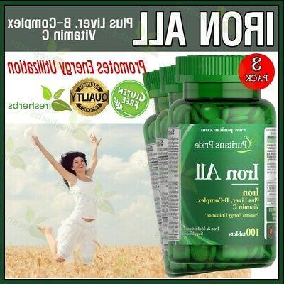 iron all liver b complex vitamin c