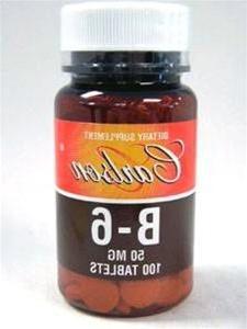 Carlson Labs Vitamin B-6, 50mg, 100 Tablets