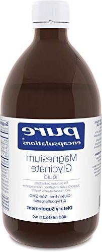 Pure Encapsulations - Magnesium Glycinate Liquid - Supports