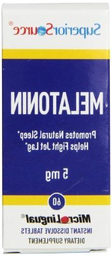 Superior Source Melatonin Multivitamins, 5mg, 60 Count