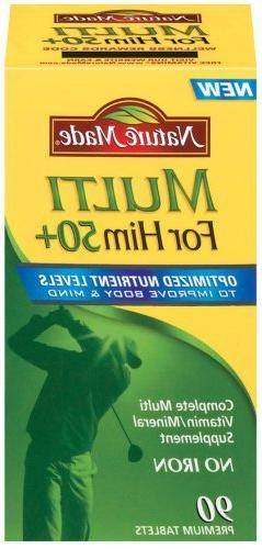 Nature Made Multi for Him 50+ Multiple Vitamin and Mineral,