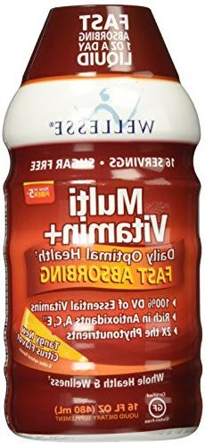 Wellesse Multivitamin Fast Absorbing, Complete B-Complex,Tan