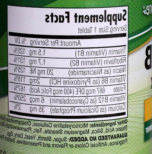 Nature's Super Vitamin B Complex,