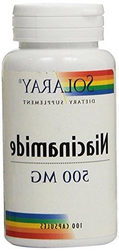 Solaray Niacinamide Capsules, 500 mg, 100 Count
