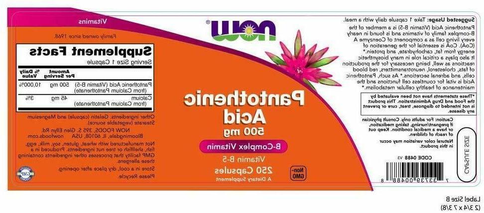 NOW Supplements, 500 Veg