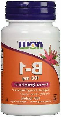 Now Vitamin B1  100mg, 100 Tablets