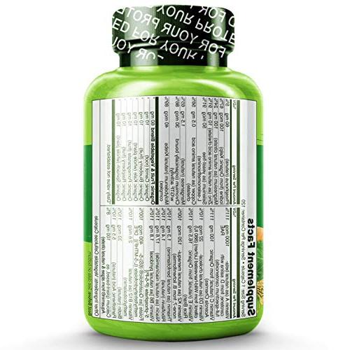 for Men - Whole Organic Extracts - Best General - 120 Capsules 4 Month