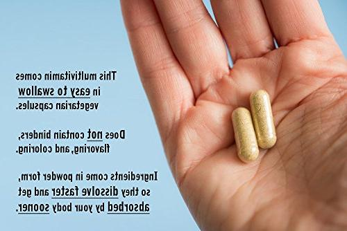 NATURELO Whole Food Vitamins, Minerals, Antioxidants, Extracts Best Energy, Heart, 240