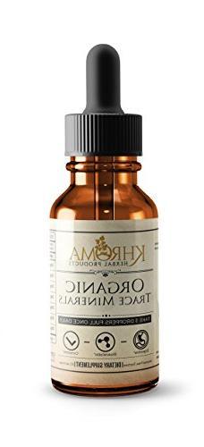 Organic Trace Minerals - by Khroma Herbs - 2 oz Liquid Plant