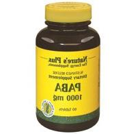 Paba 1,000mg Time Release Nature's Plus 60 Sustained Release