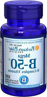 Puritan's Pride Vitamin B-50 Complex - 100 Caplets