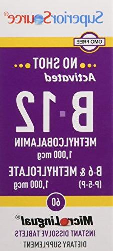 Superior No Activated 1,000 mcg B-6 mg & Methylfolate