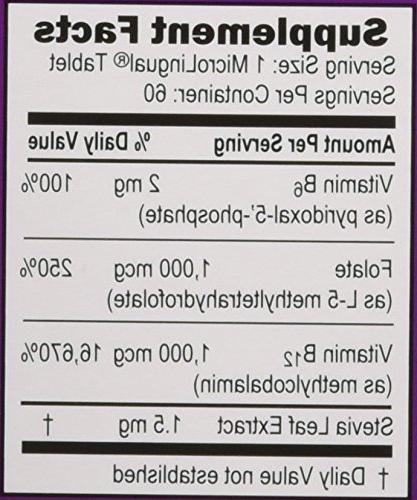 Superior Source No Activated B-12 1,000 mcg B-6 & Methylfolate