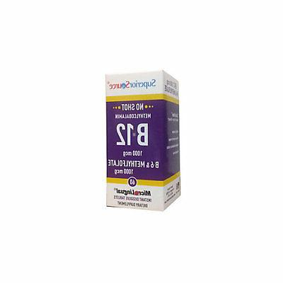 Superior Source No Shot Activated B-12 1,000 mcg  B-6  2 mg