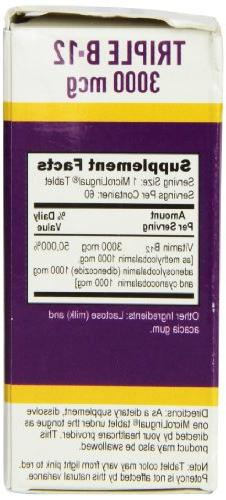 Superior No Shot Triple B12 3000 mcg, 60