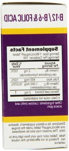 Superior Source No Vitamin Nutritional Supplements, 1000mcg/400 mcg, 100 Count