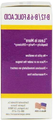 Superior Vitamin B6/Vitamin B12/Folic Nutritional 100
