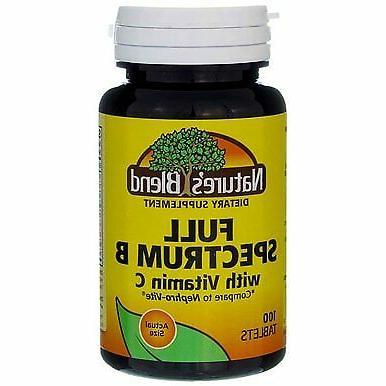 Full Spectrum B with Vitamin C 100 Tabs