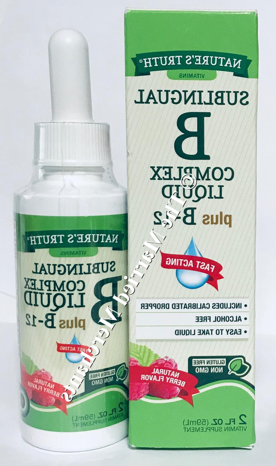 Nature's Truth Sublingual Vitamin B Complex Plus B-12 Fast A