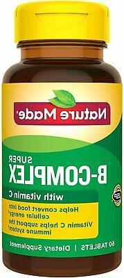 Nature Made Super B-Complex Essential Key B Vitamins + C Vit