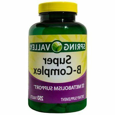 super b complex metabolism support 250 tablets