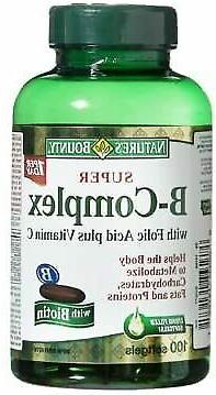 Super B-Complex with Folic Acid Plus Vitamin C with Biotin 1