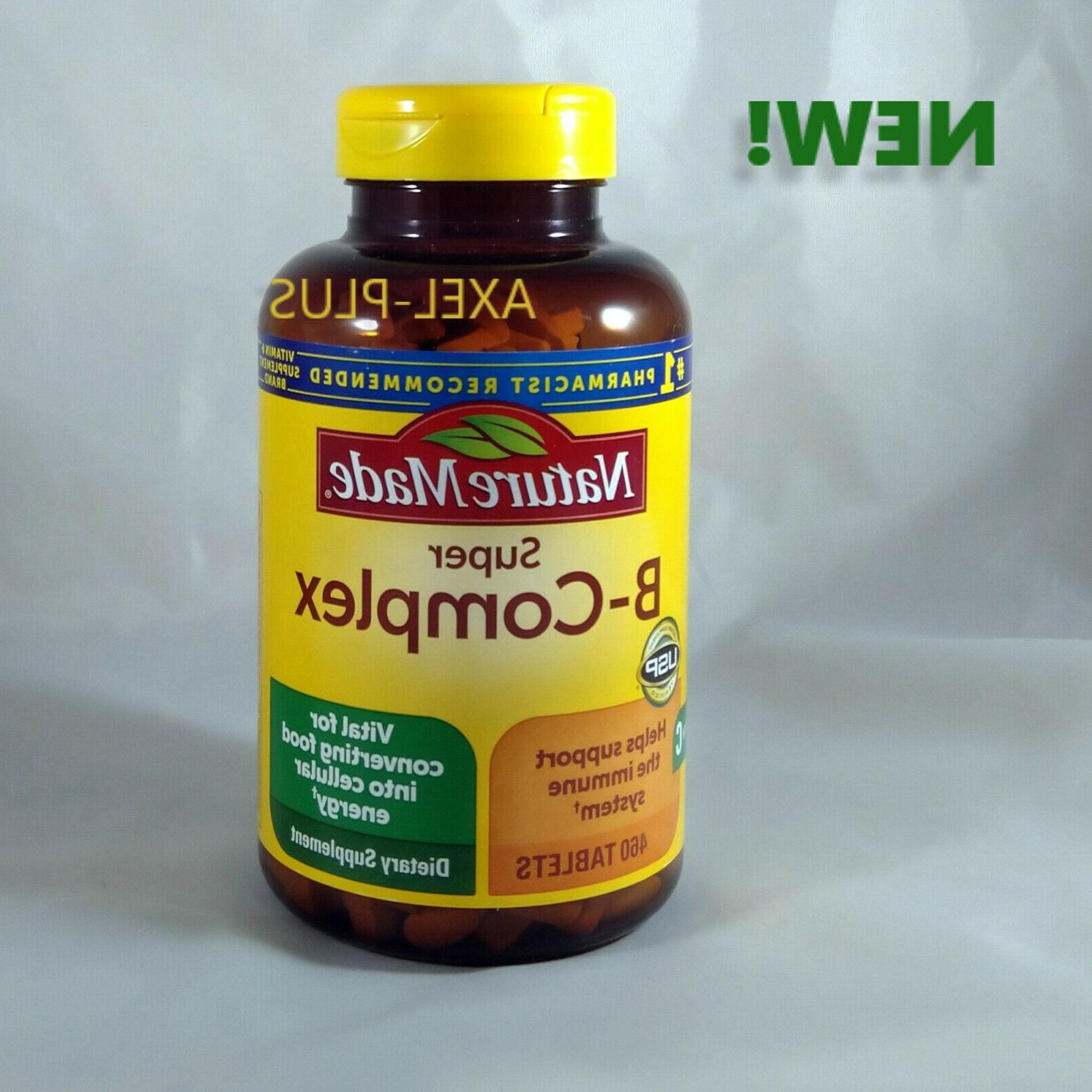 Nature Made Super B-Complex with Vitamin C & Folic Acid, 460