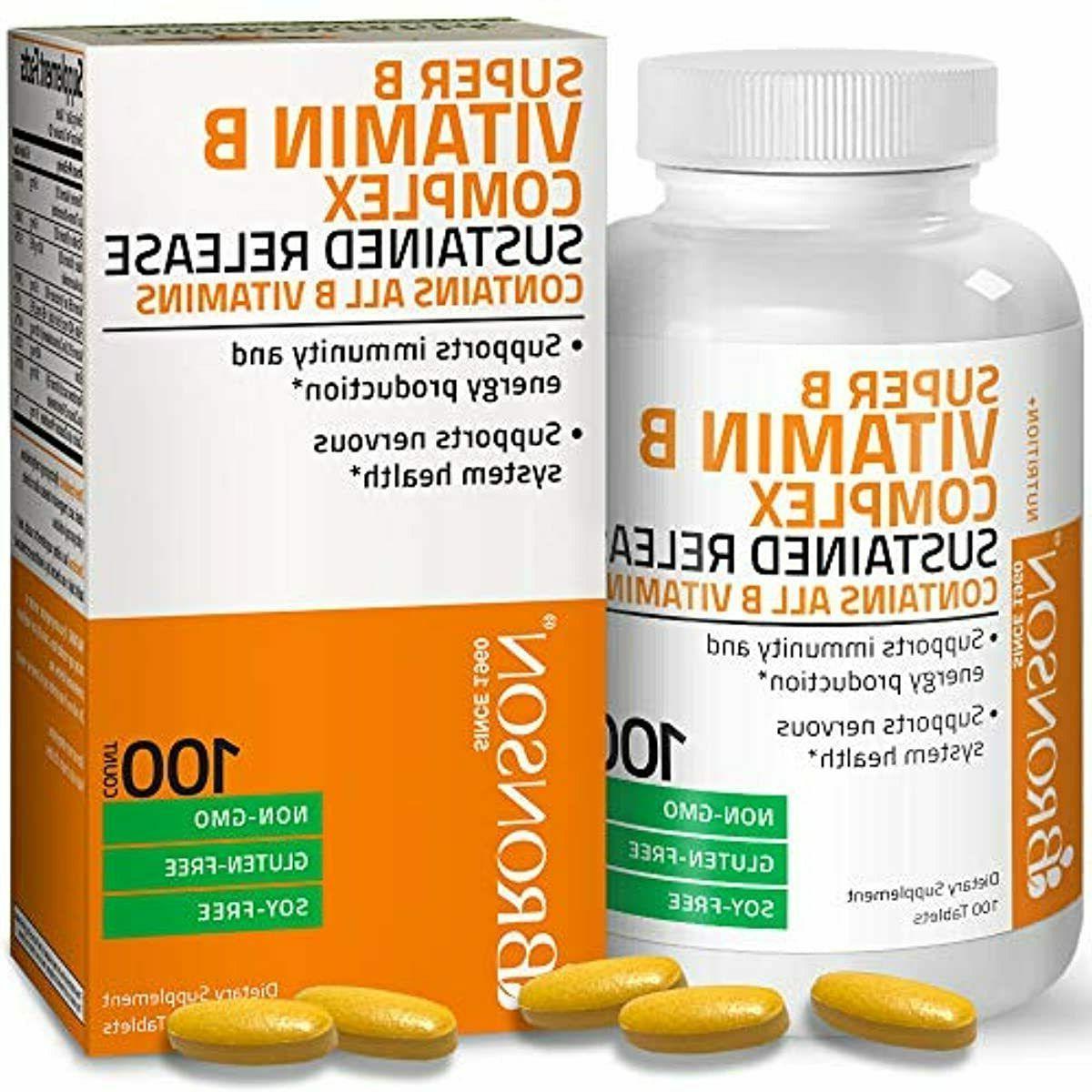 Bronson Vitamin B Complex Sustained Slow Release  Super B Co
