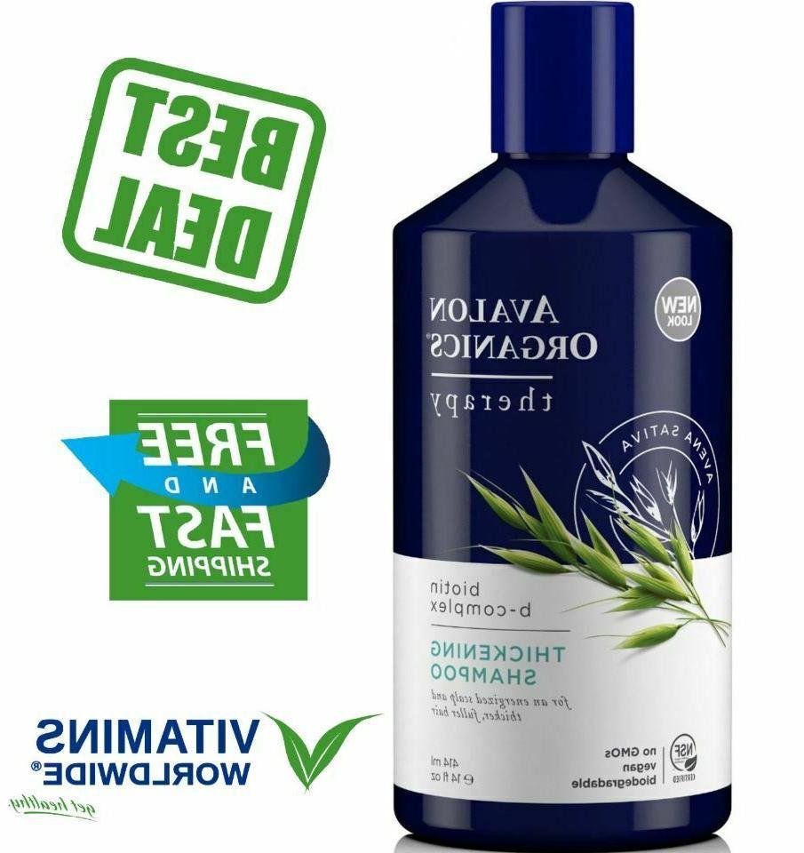 Avalon Organics Shampoo B-Complex Hair Growth Vegan