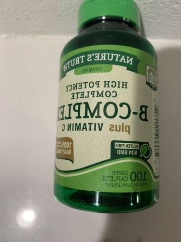 Nature's Truth Timed Release High Potency B-Complex Plus Vit