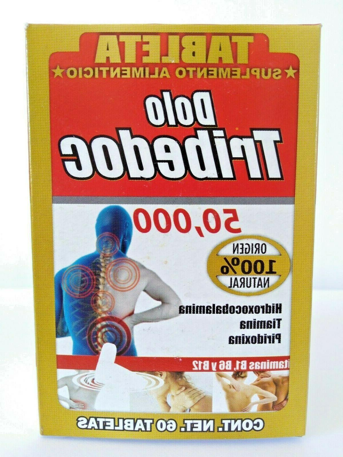 TRIBEDOCE DOLO 60 COMPLEX B GINSENG EXP 50,000 A