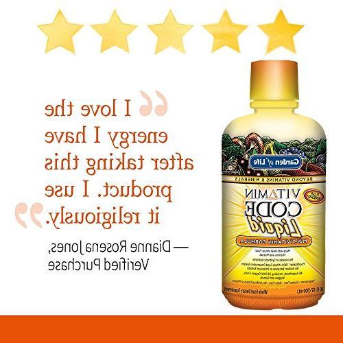 Garden Multivitamin - Raw Whole Vitamin Supplement, No Orange 30oz