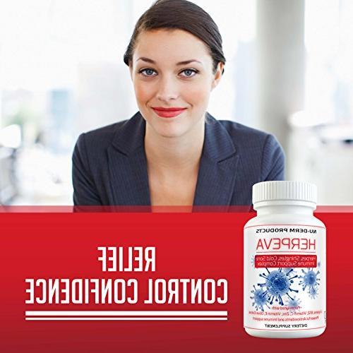 Herpeva Cold Virus L-lysine B12 Vitamin C, B-Complex, Prunella Vulgaris,