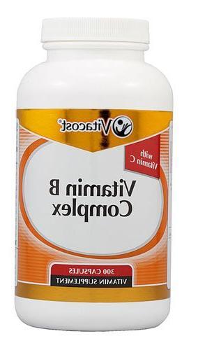 Vitacost Vitamin B Complex With Vitamin C -- 180 Capsules -