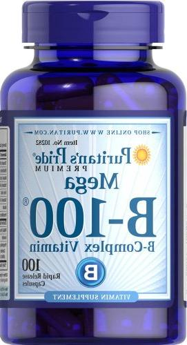 Puritan's Pride Vitamin Complex-100 Capsules