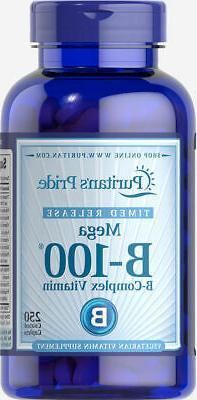 Puritan's Pride Vitamin B-100 Complex Timed Release-250 Capl