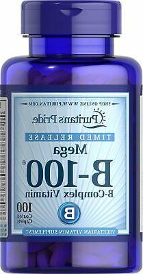 Puritan's Pride Vitamin B-100 Complex Timed Release-100 Capl