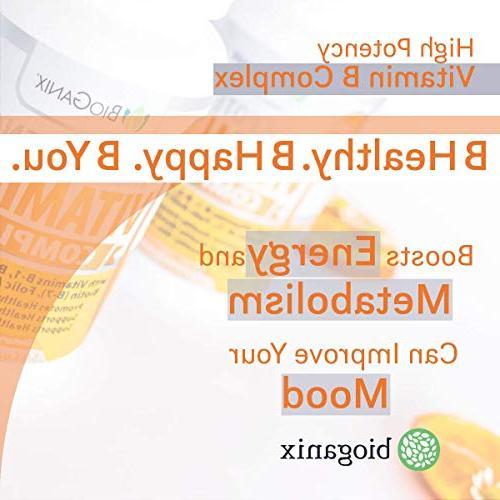 Vitamin Made in USA | B1, B3, B6, B9 Folic Acid Vegan, Capsules Boost Metabolism, Skin, Eyes