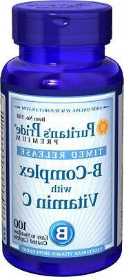 Puritan's Pride Vitamin B-Complex + Vitamin C Time Release-1