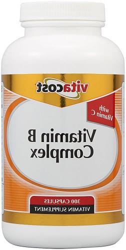Vitacost Vitamin B Complex With Vitamin C -- 300 Capsules