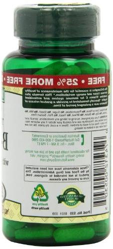Nature's with Folic Vitamin Supplement, Aids Metabolism 125 Pack
