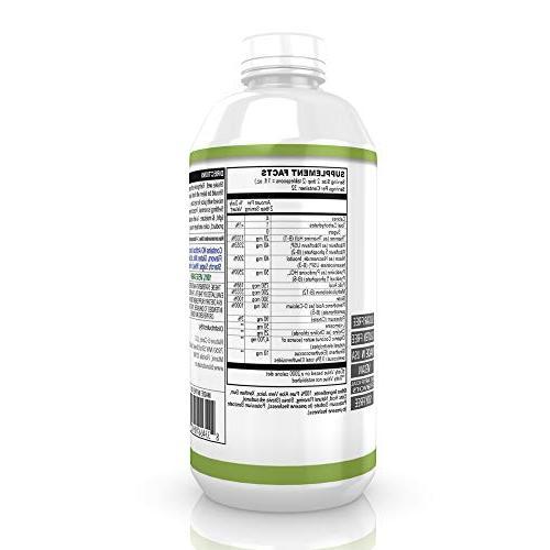Bio Naturals 100% Energy B3 B5 B6 B12 & Water for Mental Focus & Immune - 32 fl oz