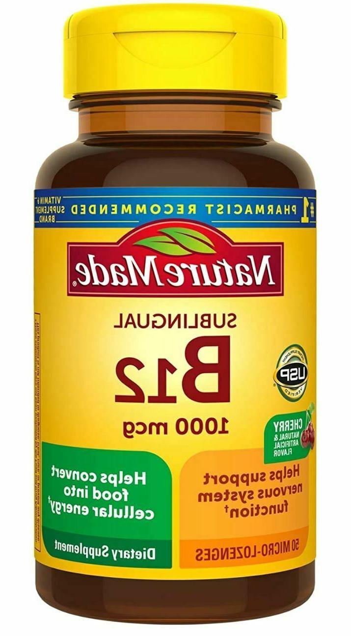 Nature Made Vitamin B-12 1000 MCG Sublingual Supplement, 50