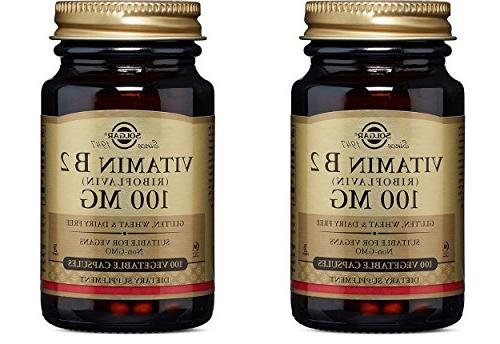 Vitamin B2  100 mg Vegetable Capsules, 100 mg, 100 V Caps