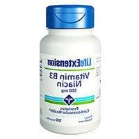 Life Extension Vitamin B3 Niacin - 500 mg - 100 Capsules