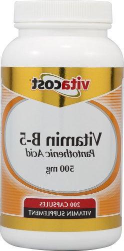 DrVita Vitamin B5 Pantothenic Acid 500 mg - 200 Caps