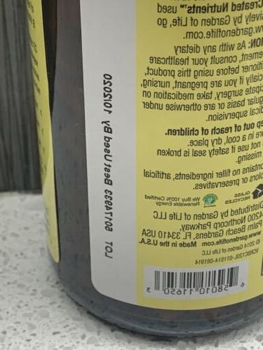 Garden of Life Vitamin Code Raw B-Complex ***EXP 10/20*** Caps NO BOX